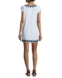 Calypso St. Barth - Black Sashka Cap-sleeve Tunic Dress - Lyst
