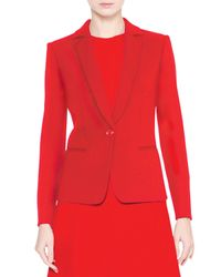 Giorgio Armani - Red Notch-collar One-button Jacket - Lyst