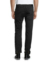 Robin's Jean - Black Slim-Fit Moto Jeans for Men - Lyst
