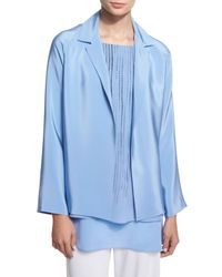 Shamask | Blue Notched-collar Open-front Jacket | Lyst