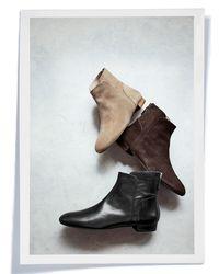 Delman - Black Myth Ankle Flat Boots - Lyst
