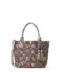 MICHAEL Michael Kors | Brown Vivian Medium Woven Tote Bag | Lyst