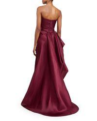 Rubin Singer - Black Gazaar Strapless Draped Gown - Lyst