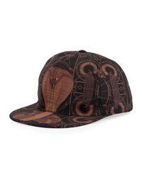 Givenchy - Black Cobra Print Hat for Men - Lyst