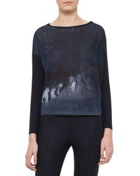 Akris | Blue Lions In The Night Long-sleeve Pullover | Lyst