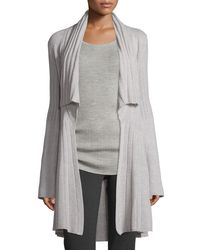 Derek Lam | Gray Open-front Cozy Cashmere Sweater | Lyst