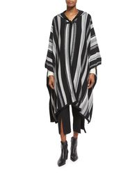Maiyet - Black Long-sleeve Hooded Poncho - Lyst