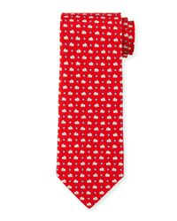 Ferragamo   Red Elephant & Star-print Silk Tie for Men   Lyst