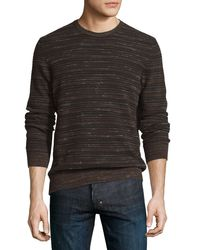 Billy Reid | Multicolor Blurred-stripes Merino Wool Long-sleeve Sweater for Men | Lyst