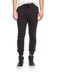 Helmut Lang | Black Curved-leg Track Pants for Men | Lyst