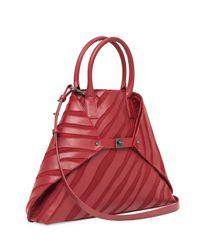 Akris - Multicolor Ai Medium Top-handle Zebra-stripe Shoulder Bag - Lyst