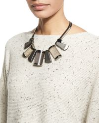 Lafayette 148 New York - Natural Art Deco Collar Necklace - Lyst