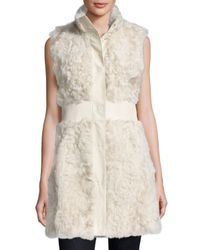 Pologeorgis - White Lamb Leather-trim Vest - Lyst