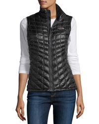 The North Face - Gray All-Weather Quilted Vest - Lyst