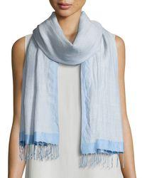 Eileen Fisher | Blue Hand-loomed Wool/silk Pathways Scarf | Lyst