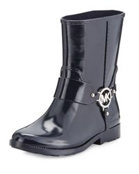 MICHAEL Michael Kors | Black Fulton Harness Short Rain Boot | Lyst