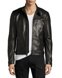 Pink Pony | Black Randall Leather Café Racer Jacket for Men | Lyst