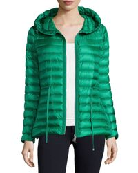 Moncler - Green Raie Hooded Puffer Jacket - Lyst