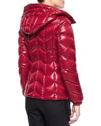 Moncler | Black Badete Short Hooded Puffer Coat | Lyst