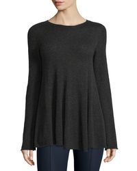 The Row Gray Ebelda Long-Sleeved Trapeze Sweater