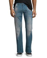 DIESEL - Blue Larkee L.32 Distressed Denim Jeans for Men - Lyst