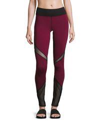 Michi | Purple Radiate Mesh-inset Sport Leggings | Lyst