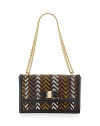 Ferragamo | Multicolor Ginny Medium Woven Shoulder Bag | Lyst