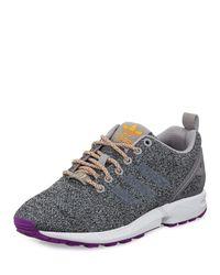 Adidas Originals   Gray Zx Flux Textile Sneaker for Men   Lyst