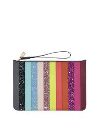 Sophie Hulme - Purple Talbot Striped Zip Pouch Bag - Lyst