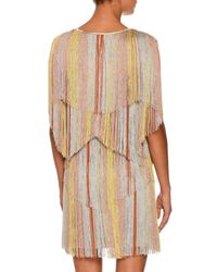 Missoni - Metallic Layered-fringe Dress - Lyst