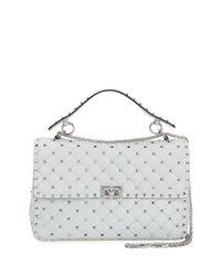 Valentino | Gray Rockstud Large Quilted Shoulder Bag | Lyst