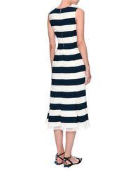 Dolce & Gabbana - Blue Navy Cherry Embroidered Dress - Lyst