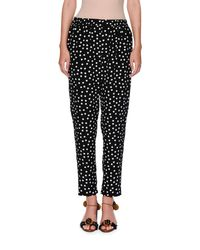 Dolce & Gabbana | Black Polka-dot Silk Pull-on Pants | Lyst