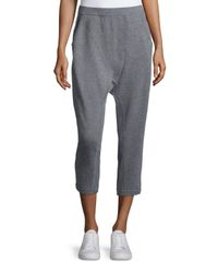Eileen Fisher | Gray Slouchy Harem Thermal Pants | Lyst