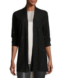 Eileen Fisher | Black Merino Wool Twinkle Cardigan | Lyst