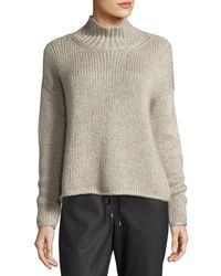 Eileen Fisher | Multicolor Fisher Project Hand-knit Silk/cashmere Box Top | Lyst