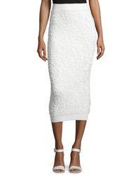Michael Kors | White Soutache-embroidered Midi Skirt | Lyst