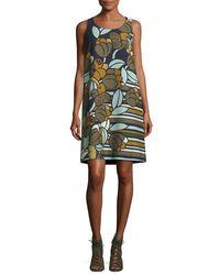 Lafayette 148 New York | Multicolor Sleeveless Floral-print Cloqué Shift Dress | Lyst