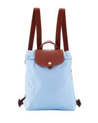 Longchamp | Blue Le Pliage Nylon Backpack | Lyst