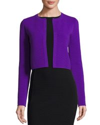 Ralph Lauren Collection | Purple Ottoman-knit Shrug Jacket | Lyst