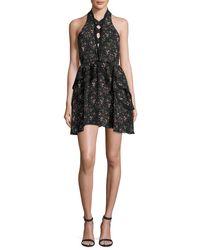 Camilla & Marc | Black Sleeveless Floral Silk Mini Dress | Lyst