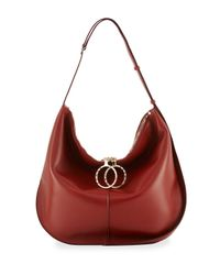 Nina Ricci - Red Kuti Large Leather Hobo Bag - Lyst