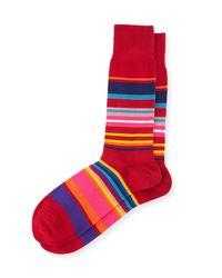 Paul Smith | Gray Multicolor Striped Socks for Men | Lyst