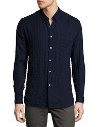Billy Reid | Blue Crinkled Pocket Sport Shirt for Men | Lyst