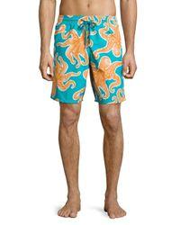 Vilebrequin | Blue Okoa Octopus-print Swim Trunks for Men | Lyst