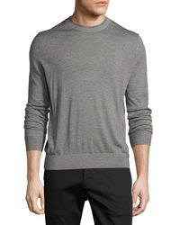 Theory | Gray Villings Admiral Striped Crewneck Sweater for Men | Lyst