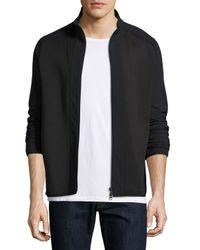 Theory | Black Travus Scuba Front-zip Jacket for Men | Lyst