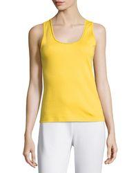 Joan Vass   Yellow Golden-chain Sleeveless Tank   Lyst
