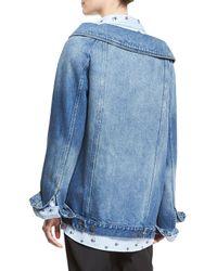 Robert Rodriguez   Blue Long Denim Jacket   Lyst
