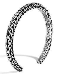 John Hardy | Metallic Men's Classic Chain Sterling Silver Slim Cuff for Men | Lyst